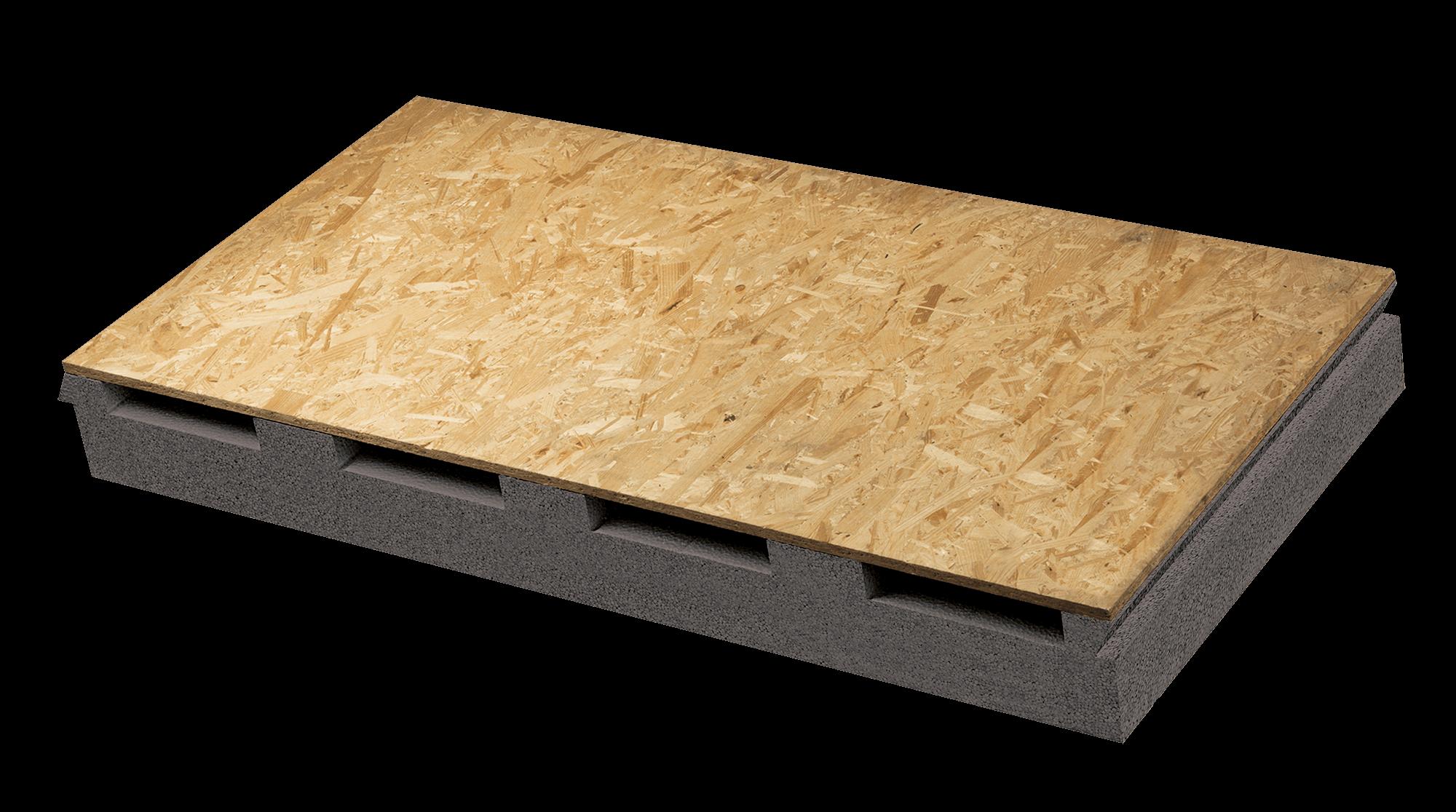 Pannello isolante per tetto ventilato in eps grigio accoppiato a OSB Aero Styr Dark OSB | Nuova Fopan