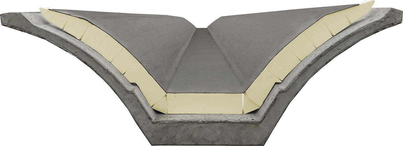isolante con guaina prodotto su misura per tegolo alare prefabbricato - Fopan Eps - nuova fopan
