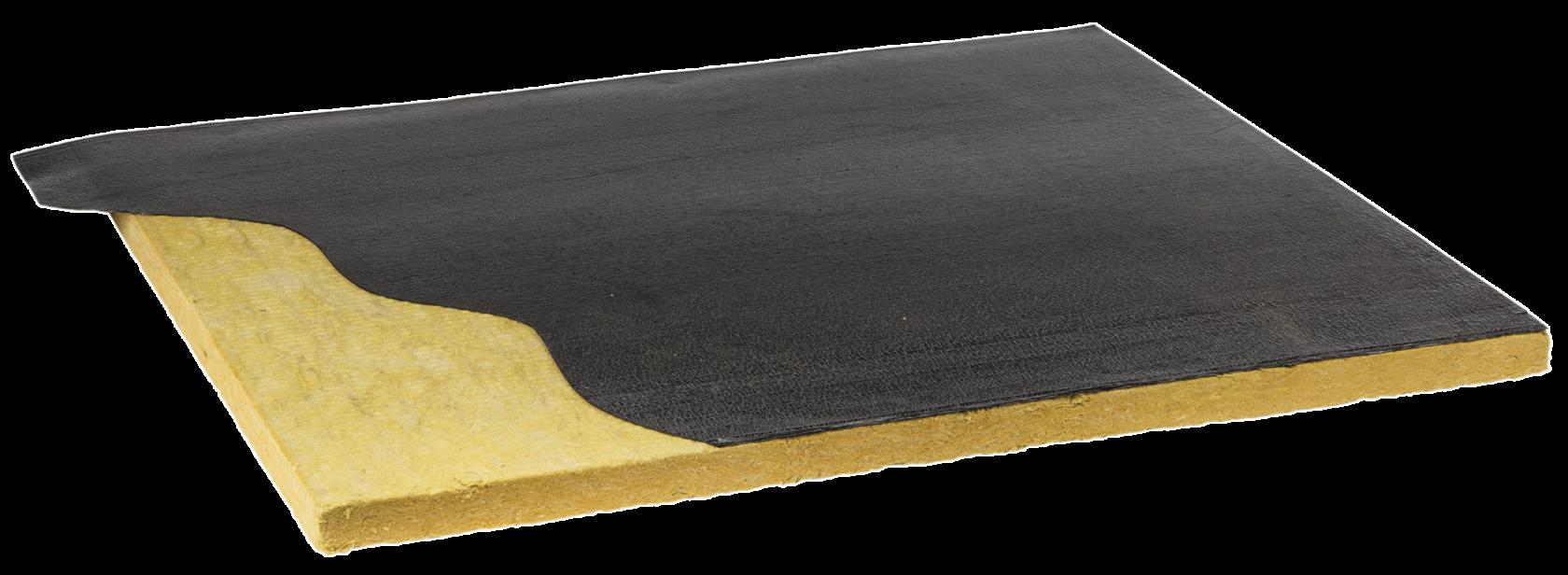 Pannello in lana di roccia bitumata fonoassorbente per coperture e coibentazione tetto Fopan RW nuova fopan